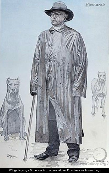 Chancellor Bismarck and his dogs - (after) La Barre, de