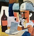 Soldier with Pipe and Bottle - Roger de La Fresnaye