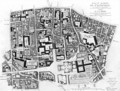 Map of Sainte Genevieve area Paris - Jean de La Grive