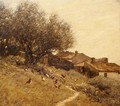 A Hillside Village in Provence - Henry Herbert La Thangue