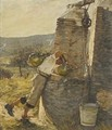 Boy Filling Water Jars at Well - Henry Herbert La Thangue