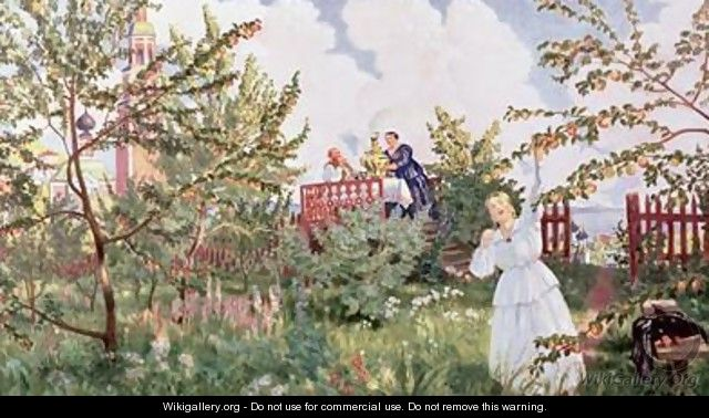 The Orchard - Boris Kustodiev