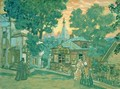 Stage design for Ostrovskys play Not one penny - Boris Kustodiev