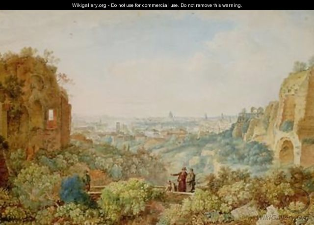 View of Rome from the Palace of the Caesars - Henri L