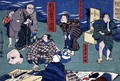 Moral teaching for shopboys giving good and bad examples of behaviour 2 - Utagawa Kuniyoshi
