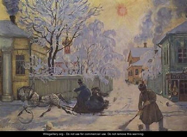 Frosty Morning - Boris Kustodiev