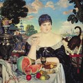 The Merchants Wife at Tea - Boris Kustodiev