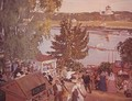 Public merrymaking on the Volga - Boris Kustodiev