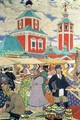 At The Fair - Boris Kustodiev