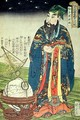 Father Ferdinand Verbiest 1623-88 dressed as a Chinese astrologer - Utagawa Kuniyoshi