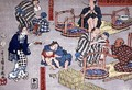 Moral teaching for shopboys giving good and bad examples of behaviour 7 - Utagawa Kuniyoshi