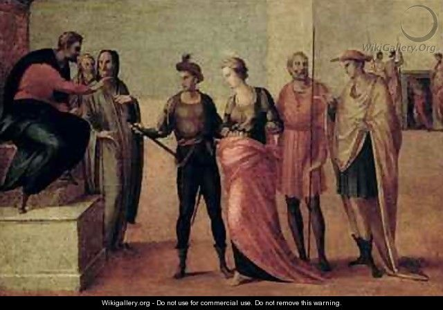 The Sentencing of St Lucy - Francesco Granacci