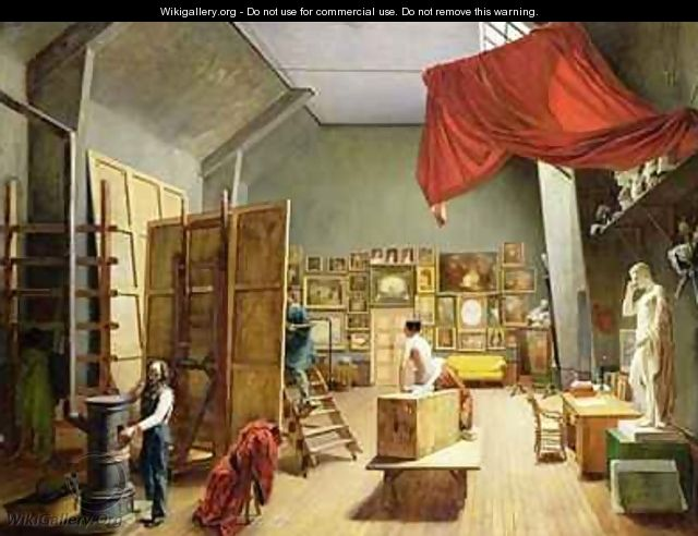Interior of the Studio of Abel de Pujol 1787-1861 - Adrienne-Marie Grandpierre-Deverzy