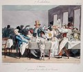 The hundred seater restaurant 5 oclock from Sundays of a Paris Bourgeois - (Jean Ignace Isidore Gerard) Grandville
