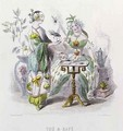 Tea and Coffee from Les Fleurs Animees - (Jean Ignace Isidore Gerard) Grandville