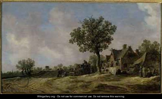 Tavern on a Country Road - Jan van Goyen