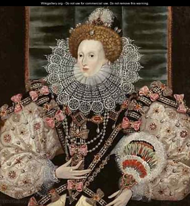 Portrait of Queen Elizabeth I The Armada Portrait - George Gower