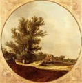 Oak Tree on a Country Lane with Travellers - Jan van Goyen