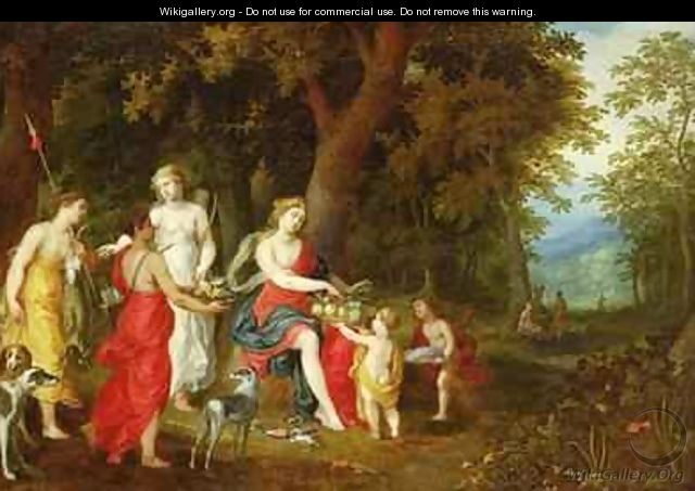 Diana and Her Maidens after the hunt - A. & Balen, H. van Govaerts
