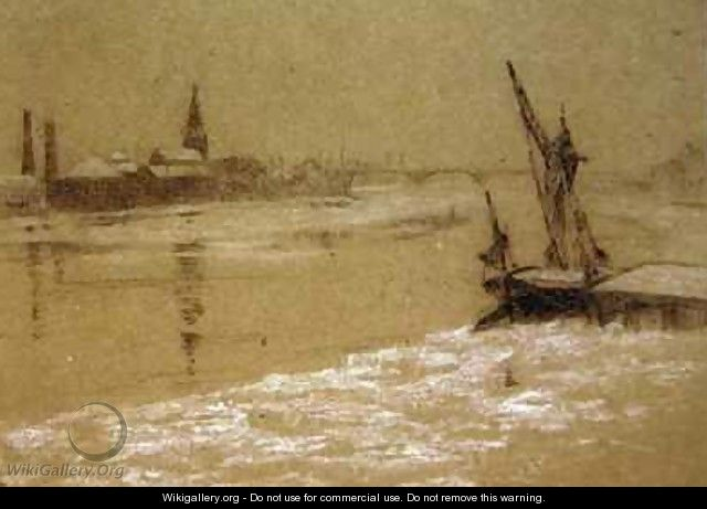 The Thames in Winter - Walter Greaves