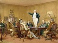 Mr Pickwick addressing his friends - Charles Green