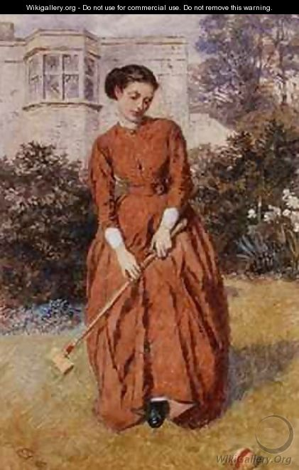 The Croquet Player - Charles Green