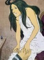 A Drug Addict Injecting Herself - Eugene Grasset