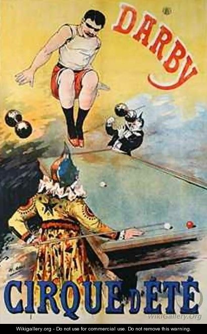 Poster advertising the Darby Cirque dEte - Henri (Boulanger) Gray
