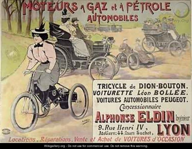 Poster advertising a Parisian car dealer - Henri (Boulanger) Gray