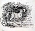 A Grey Horse trotting out of a Wood - Sir Francis Grant