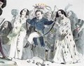 Caricature of Honore de Balzac 1799-1850 - (after) Granville