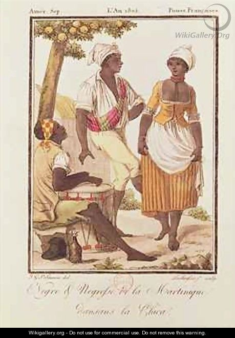 Negro and Negress from Martinique Dancing la Chica - (after) Grasset de Saint-Sauveur, Jacques
