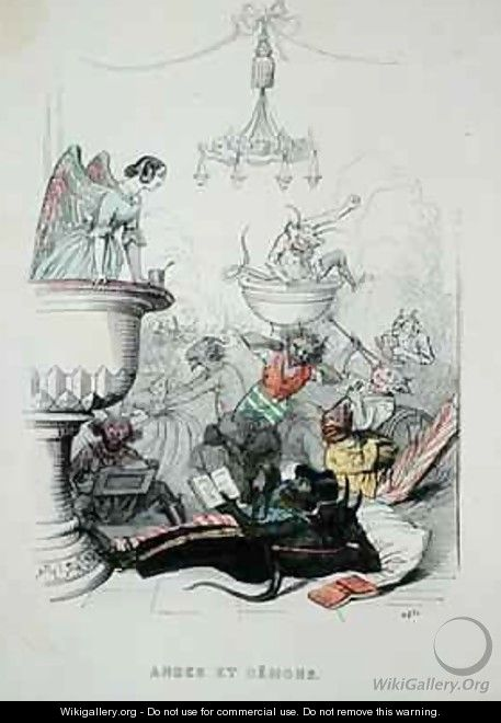 Angels and Demons - (Jean Ignace Isidore Gerard) Grandville
