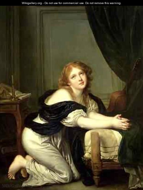 Morning Prayer - (after) Greuze, Jean Baptiste