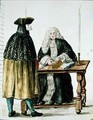 A Magistrate Playing Cards with a Masked Man - Jan van Grevenbroeck