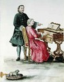 A Singer at the Clavichord with her Teacher - Jan van Grevenbroeck