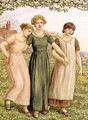 Three Young Girls - Kate Greenaway