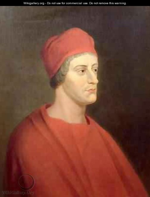 Portrait of the actor Henry Harris as Wolsey from William Shakespeares Henry VIII - John Greenhill