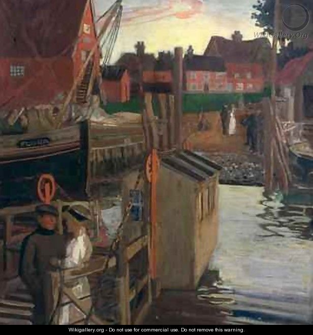 The Ferry Walberswick - Maurice William Greiffenhagen