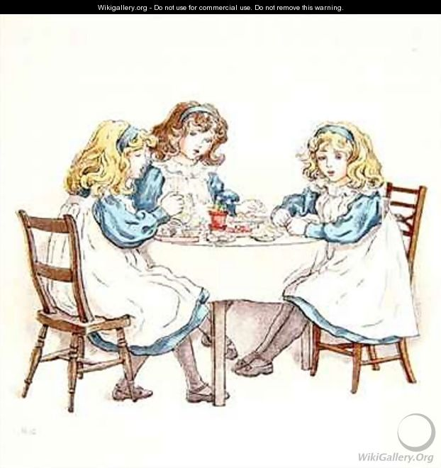 Girls Tea party - Kate Greenaway
