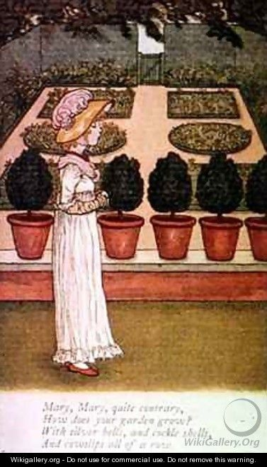 April Babys Book of Tunes Mary Mary Quite Contrary - Kate Greenaway
