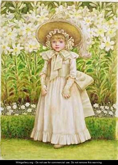 Child in a White Dress - Kate Greenaway