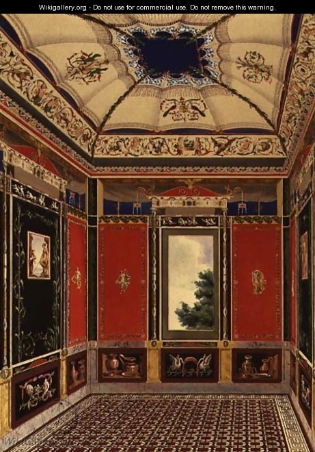 The Pompeian Room - Ludwig Gruner