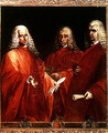 Portrait of Three Lawyers Giovanni Dolfin Gaetano Minotto and Lodovico Angarano - Vicenzo Guarana