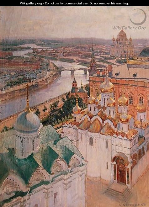 View of Moscow from the Bell Tower of Ivan the Great - Nikolai Nikolaevich Gritsenko