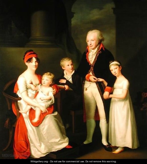 Marc Andre Souchay 1759-1814 and His Family - Friedrich Carl Groger
