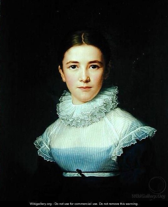 Portrait of Lina Groger the foster daughter of the Artist - Friedrich Carl Groger