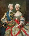 Portrait of Catherine the Great 1729-96 and Prince Petr Fedorovich 1728-62 - Georg Christoph Grooth
