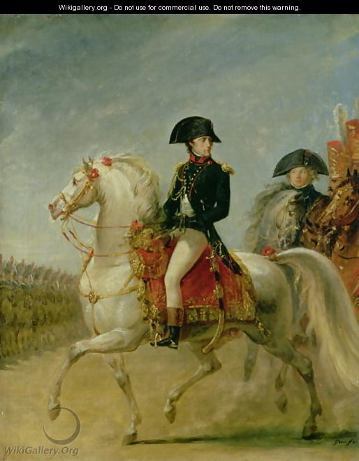 General Bonaparte 1769-1821 Reviewing the Troops - Antoine-Jean Gros