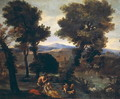 Landscape with Venus Pan and Cupids - Giovanni Francesco Grimaldi